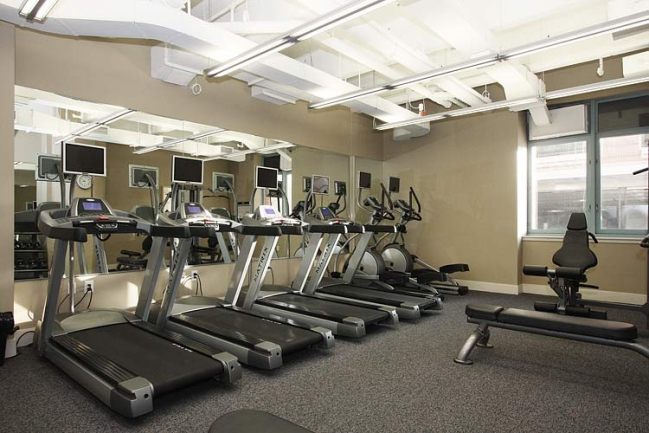 Gym at Harborside Lofts in Hoboken, NJ