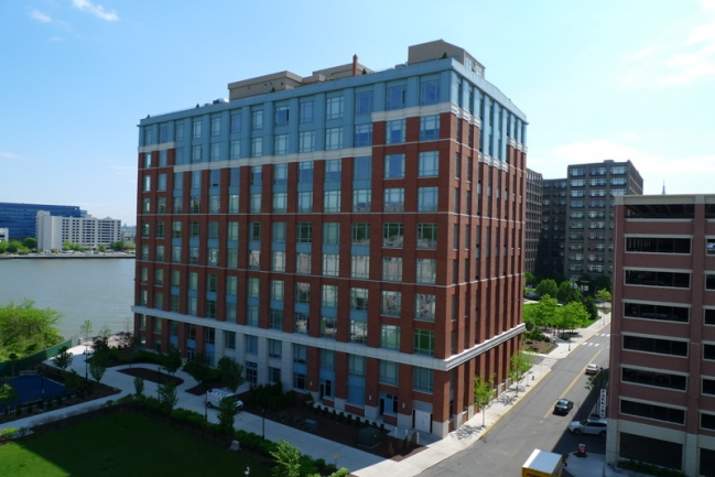 Aerial View of Harborside Lofts in Hoboken, NJ